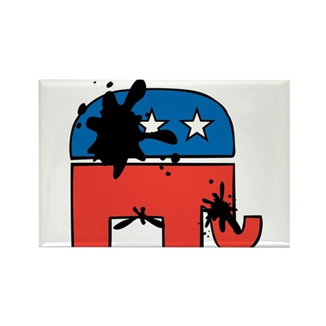 Republican Mudslinging Rectangle Magnet