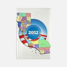 California for Obama Rectangle Magnet