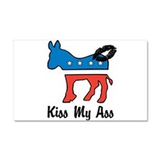 Kiss My Ass Car Magnet 20 x 12