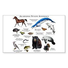 Alabama State Animals Decal