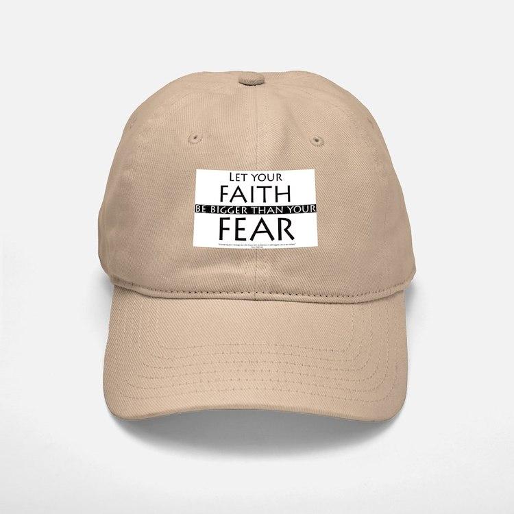 Faith and Fear Baseball Baseball Cap