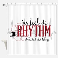 jus feel de RHYTHM Shower Curtain