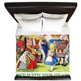 Alice off with her head King Duvet Covers