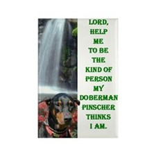 Lord Help Me -RecMag -Doberman,BlkRstNat Magnets