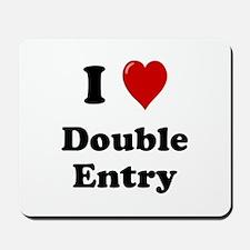 I Love Double Entry Mousepad