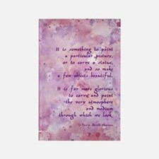 Thoreau Paint Quote Rectangle Magnet