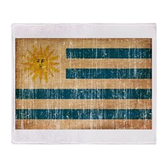 Uruguay textured aged copy.png Throw Blanket
