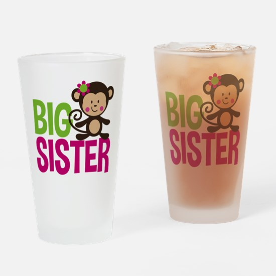 Monkey Big Sister Drinking Glass