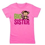 Monkey sister birthday Girl's Dark T-Shirt