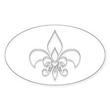 Fleur de lis Oval Decal