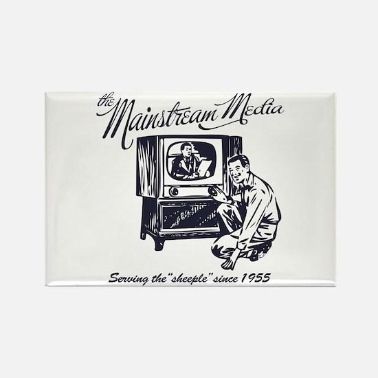 The Mainstream Media Rectangle Magnet