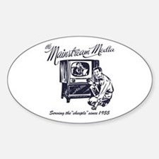 The Mainstream Media Oval Decal