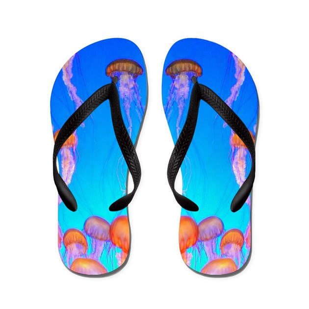Jelly fish flip flops by glory4himchristianstore for Fish flip flops