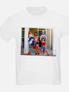 Wonder Woman And Captain America T-Shirt
