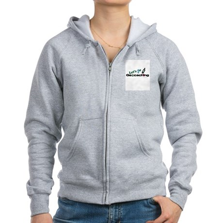 Let's Go Geocaching Women's Zip Hoodie