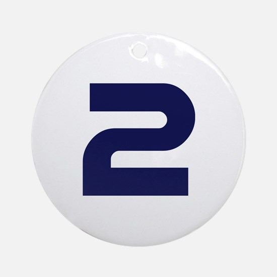 Number two 2 Ornament (Round)