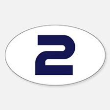 Number two 2 Sticker (Oval)