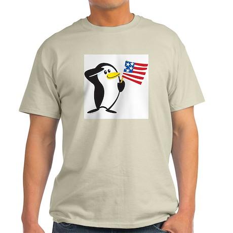 Proud Penguin: Ash Grey T-Shirt