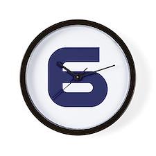 Number six 6 Wall Clock