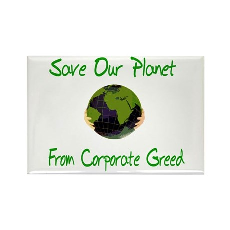Save Our Planet Rectangle Magnet (10 pack)