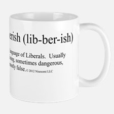 Libberish Definition BW Mug