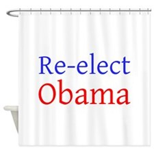 Re-elect Obama ---- Shower Curtain