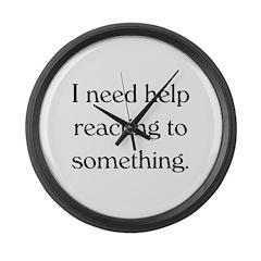 Help me react. Large Wall Clock