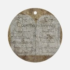 Ten Commandments Ornament (Round)