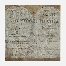 Ten Commandments 10 Laws Desi Tile Coaster