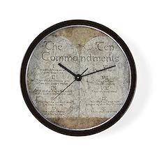 Ten Commandments 10 Laws Desi Wall Clock