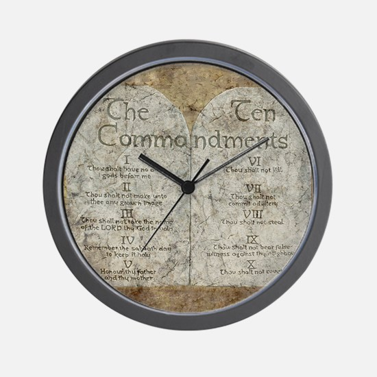 Ten Commandments 10 Laws Desi Wall Clock
