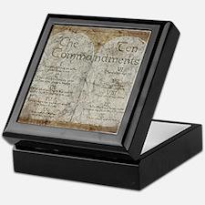 Ten Commandments 10 Laws Desi Keepsake Box