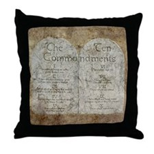 Ten Commandments 10 Laws Desi Throw Pillow