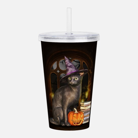 Witch Kitty Cat Acrylic Double-wall Tumbler