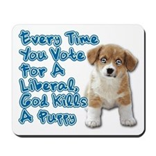 God Kills A Puppy Mousepad