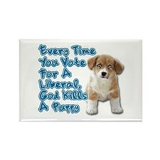God Kills A Puppy Rectangle Magnet
