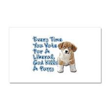 God Kills A Puppy Car Magnet 20 x 12