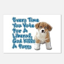 God Kills A Puppy Postcards (Package of 8)