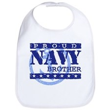 Proud Navy Brother Bib