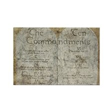 Ten Commandments 10 Laws Desi Rectangle Magnet