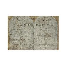 Ten Commandments 10 Laws Desi Rectangle Magnet (10