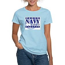 Proud Navy Sister Women's Pink T-Shirt