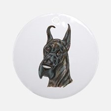 darkbrindle.png Ornament (Round)
