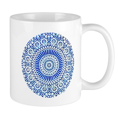 indigo blue third eye sixth chakra mosaic circle M