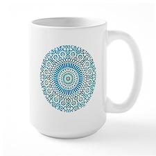 blue throat fifth chakra mosaic circle Mug