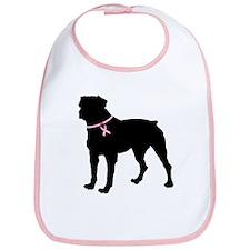 Rottweiler Breast Cancer Support Bib