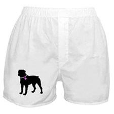 Rottweiler Breast Cancer Supp Boxer Shorts