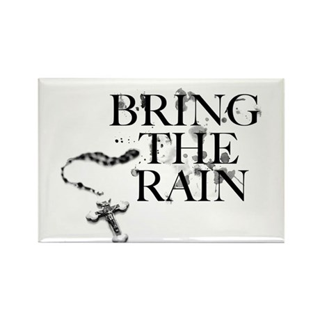 Bring The Rain Rectangle Magnet (100 pack)