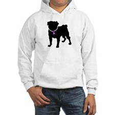 Pug Breast Cancer Support Hoodie
