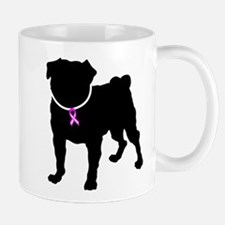 Pug Breast Cancer Support Mug